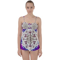 Eyes Looking For The Finest In Life As Calm Love Babydoll Tankini Set by pepitasart