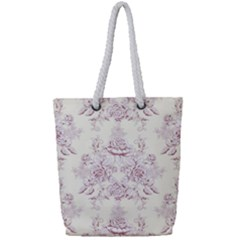 French Chic Full Print Rope Handle Tote (small) by 8fugoso