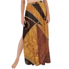 Art Deco Gold Maxi Chiffon Tie Up Sarong