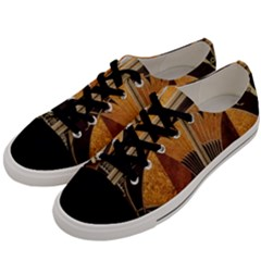 Art Deco Gold Men s Low Top Canvas Sneakers by 8fugoso