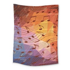 Music Notes Medium Tapestry by linceazul