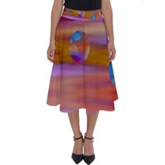 Space World Pattern Perfect Length Midi Skirt