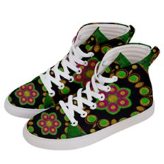 Magic Of Life A Orchid Mandala So Bright Women s Hi-top Skate Sneakers by pepitasart