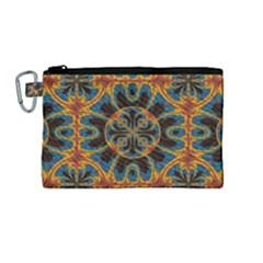 Tapestry Pattern Canvas Cosmetic Bag (medium) by linceazul