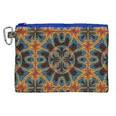 Tapestry Pattern Canvas Cosmetic Bag (xl) by linceazul