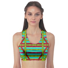 Gift Wrappers For Body And Soul Sports Bra by pepitasart