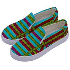 Gift Wrappers For Body And Soul Kids  Canvas Slip Ons by pepitasart