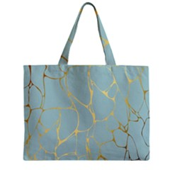 Mint,gold,marble,pattern Zipper Mini Tote Bag by 8fugoso