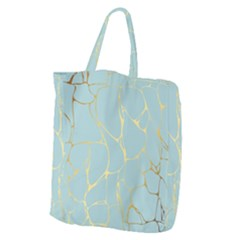 Mint,gold,marble,pattern Giant Grocery Zipper Tote by 8fugoso