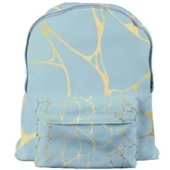Mint,gold,marble,pattern Giant Full Print Backpack by 8fugoso