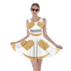 Gold Smiley Face Skater Dress by 8fugoso