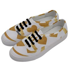 Gold Smiley Face Men s Classic Low Top Sneakers by 8fugoso