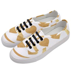 Gold Smiley Face Women s Classic Low Top Sneakers by 8fugoso