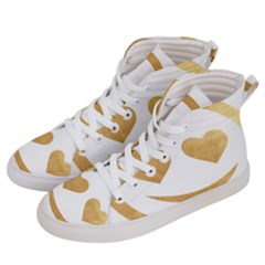 Gold Smiley Face Women s Hi Top Skate Sneakers by 8fugoso