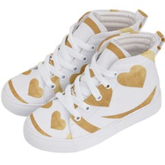 Gold Smiley Face Kid s Hi Top Skate Sneakers by 8fugoso