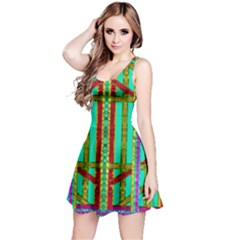Gift Wrappers For Body And Soul In  A Rainbow Mind Reversible Sleeveless Dress by pepitasart