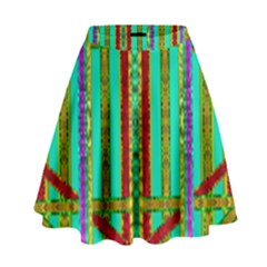 Gift Wrappers For Body And Soul In  A Rainbow Mind High Waist Skirt by pepitasart
