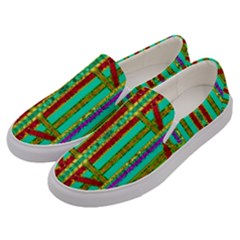 Gift Wrappers For Body And Soul In  A Rainbow Mind Men s Canvas Slip Ons by pepitasart