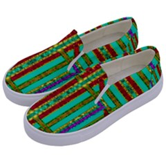 Gift Wrappers For Body And Soul In  A Rainbow Mind Kids  Canvas Slip Ons by pepitasart