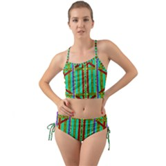 Gift Wrappers For Body And Soul In  A Rainbow Mind Mini Tank Bikini Set
