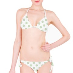 Green Dots Modern Pattern Paper Bikini Set