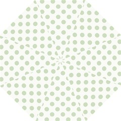 Green Dots Modern Pattern Paper Hook Handle Umbrellas (large) by Celenk