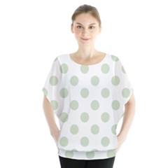 Green Dots Modern Pattern Paper Blouse