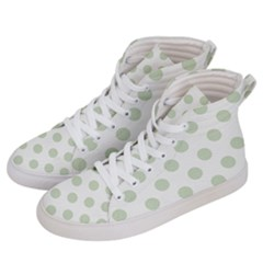 Green Dots Modern Pattern Paper Men s Hi Top Skate Sneakers by Celenk