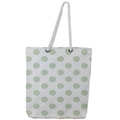 Green Dots Modern Pattern Paper Full Print Rope Handle Tote (large)