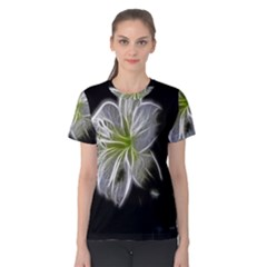 White Lily Flower Nature Beauty Women s Cotton Tee by Celenk