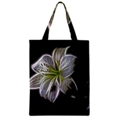 White Lily Flower Nature Beauty Zipper Classic Tote Bag