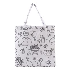 Set Chalk Out Scribble Collection Grocery Tote Bag by Celenk