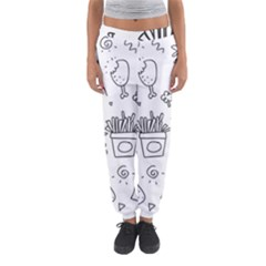 Set Chalk Out Scribble Collection Women s Jogger Sweatpants by Celenk