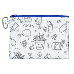 Set Chalk Out Scribble Collection Canvas Cosmetic Bag (xl) by Celenk