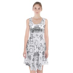Set Chalk Out Scribble Collection Racerback Midi Dress by Celenk