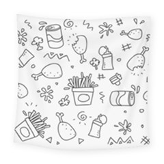 Set Chalk Out Scribble Collection Square Tapestry (large) by Celenk