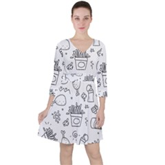 Set Chalk Out Scribble Collection Ruffle Dress