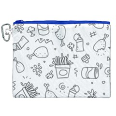 Set Chalk Out Scribble Collection Canvas Cosmetic Bag (xxl) by Celenk