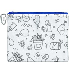 Set Chalk Out Scribble Collection Canvas Cosmetic Bag (xxxl)