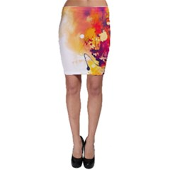 Paint Splash Paint Splatter Design Bodycon Skirt by Celenk