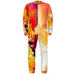 Paint Splash Paint Splatter Design Onepiece Jumpsuit (men)  by Celenk