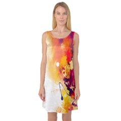 Paint Splash Paint Splatter Design Sleeveless Satin Nightdress by Celenk