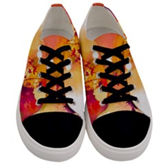Paint Splash Paint Splatter Design Men s Low Top Canvas Sneakers