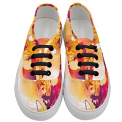 Paint Splash Paint Splatter Design Women s Classic Low Top Sneakers