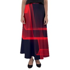 Background Light Glow Abstract Art Flared Maxi Skirt
