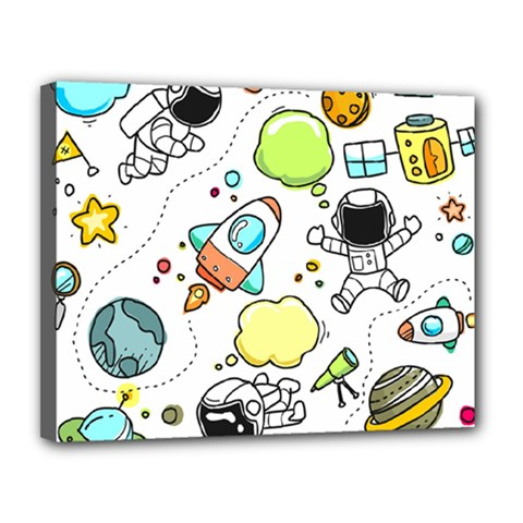 Sketch Set Cute Collection Child Canvas 14  X 11