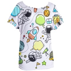 Sketch Set Cute Collection Child Women s Oversized Tee by Celenk
