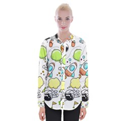 Sketch Set Cute Collection Child Womens Long Sleeve Shirt