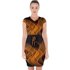 Background Light Glow Abstract Art Capsleeve Drawstring Dress