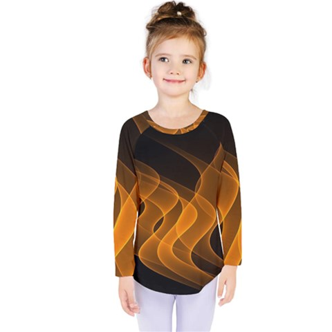 Background Light Glow Abstract Art Kids  Long Sleeve Tee by Celenk